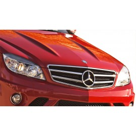 2008-2011 Mercedes-Benz C Class Vaero Polypropylene C63 Look Conversion Grille and Mounting Accessories