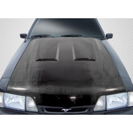 1987-1993 Ford Mustang Carbon Creations Carbon Fiber Heat Extractor Hood