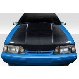 """1987-1993 Ford Mustang Carbon Creations Carbon Fiber 2"""" Cowl Hood"""